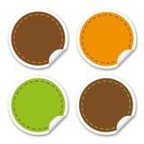 Etiquetas engomadas redondas Imagen de archivo libre de regalías