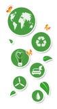 Etiquetas engomadas redondas del eco Fotografía de archivo libre de regalías
