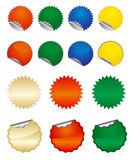 Etiquetas engomadas redondas del vector Imagen de archivo