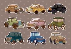 Etiquetas engomadas retras del coche Fotografía de archivo libre de regalías