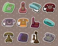 Etiquetas engomadas retras del teléfono Fotografía de archivo libre de regalías