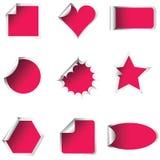 Etiquetas engomadas rosadas Imágenes de archivo libres de regalías