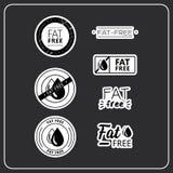 Etiquetas engomadas sin grasa libre illustration
