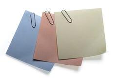 Etiquetas engomadas tricolores Fotografía de archivo libre de regalías