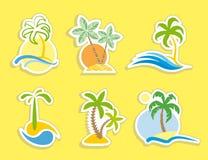 Etiquetas engomadas tropicales Imagenes de archivo