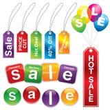 Etiquetas engomadas y escrituras de la etiqueta #5 de la venta Fotografía de archivo libre de regalías