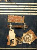 Etiquetas engomadas y escrituras de la etiqueta del caso del recorrido de la vendimia Imagen de archivo libre de regalías