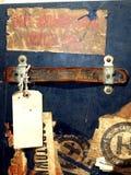 Etiquetas engomadas y escrituras de la etiqueta del caso del recorrido de la vendimia Imagen de archivo