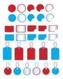 Etiquetas engomadas y etiquetas Stock de ilustración