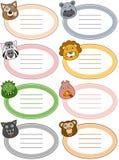 Etiquetas engraçadas do animal dos desenhos animados [2] Imagens de Stock Royalty Free