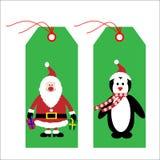 Etiquetas/escrituras de la etiqueta de la Navidad Foto de archivo libre de regalías