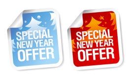Etiquetas especiais da oferta do ano novo Foto de Stock Royalty Free
