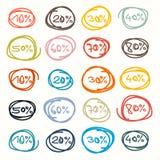 Etiquetas - etiquetas da venda Imagem de Stock
