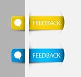 Etiquetas/etiquetas do feedback na página (do Web) Fotografia de Stock