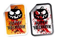 Etiquetas felizes de Halloween Fotos de Stock