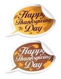 Etiquetas felizes do dia da acção de graças. Imagens de Stock Royalty Free