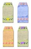 Etiquetas florales del regalo Imagen de archivo libre de regalías