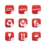 Etiquetas frágeis Imagem de Stock Royalty Free