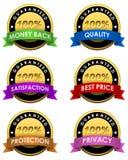 etiquetas garantidas 100% Foto de Stock Royalty Free