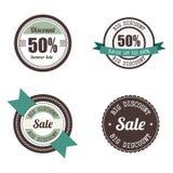 Etiquetas grandes da venda Imagens de Stock Royalty Free