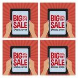 Etiquetas grandes da venda Fotografia de Stock
