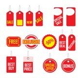 Etiquetas grises de las compras Imagen de archivo libre de regalías