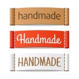 Etiquetas hechas a mano Foto de archivo libre de regalías