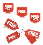 Etiquetas libres Imagen de archivo