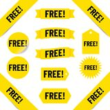 Etiquetas libres de las ventas Imagen de archivo
