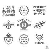 Etiquetas mínimas do vintage Foto de Stock
