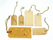 Etiquetas manchadas hechas a mano Fotos de archivo libres de regalías