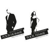 Etiquetas masculinas e fêmeas do vetor da forma Imagem de Stock Royalty Free