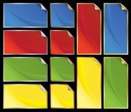 Etiquetas metálicas da casca Imagem de Stock