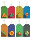 Etiquetas mexicanas Imagen de archivo libre de regalías