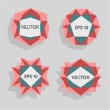 Etiquetas modernas polivinílicas bajas abstractas Vector el marco polivinílico bajo con el espacio para el elemento polivinílico  Imagen de archivo