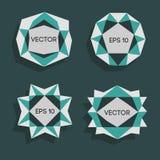 Etiquetas modernas polivinílicas bajas abstractas Vector el marco polivinílico bajo con el espacio para el elemento polivinílico  Imagen de archivo libre de regalías