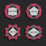 Etiquetas modernas polivinílicas bajas abstractas Vector el marco polivinílico bajo con el espacio para el elemento polivinílico  Foto de archivo
