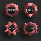 Etiquetas modernas polivinílicas bajas abstractas Vector el marco polivinílico bajo con el espacio para el elemento polivinílico  Fotografía de archivo libre de regalías