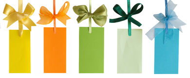 Etiquetas multicoloras Fotografía de archivo libre de regalías