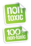 Etiquetas não tóxicas.