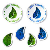 Etiquetas naturais Imagens de Stock