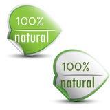etiquetas naturais de 100% Foto de Stock Royalty Free