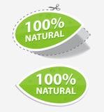 Etiquetas naturais do verde Imagem de Stock Royalty Free
