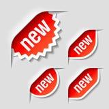 Etiquetas novas Foto de Stock