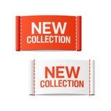 Etiquetas novas da roupa da coleção Imagens de Stock