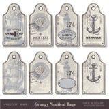 Etiquetas náuticas Fotografía de archivo libre de regalías