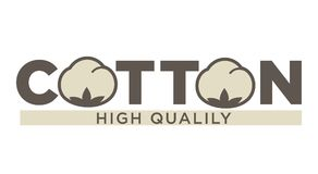Etiquetas o logotipo del algodón para la etiqueta natural pura de la materia textil de algodón del 100 por ciento Fotos de archivo libres de regalías