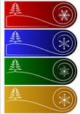Etiquetas o saludos del vector de la Navidad Fotografía de archivo