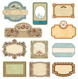 Etiquetas ornamentado do vintage Imagens de Stock Royalty Free