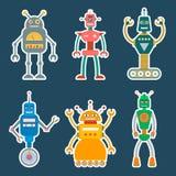 Etiquetas ou ícones do robô ajustadas Fotos de Stock